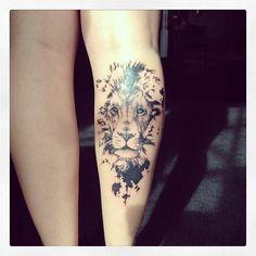 Lion-Tattoo-On-Leg.jpg 500×500 piksel