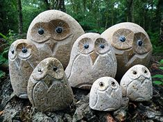 Owl Door Stop – Hand Carved From River Stones