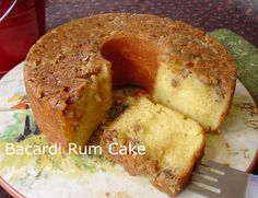 """Bacardi Rum Cake (Original Recipe) - this has been my GO-TO """"wow them"""" holiday cake offering, since 1985. Nothing from scratch even comes close, always a huge hit! Use a bunt pan, it presents beautifully. *A variation, also hugely successful, is to use devil's food cake, and replace rum with Gran Marnier. Try it both ways!"""