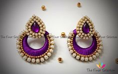 Handmade silk thread earrings