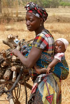 A mother & her child in Banfora, Burkina Faso. | Flickr - Photo Sharing!