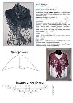 Мини-шаль LazyLara от Birgit Freyer