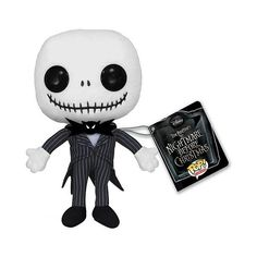 Nightmare Before Christmas Jack Skellington Pop! Plush ($9.99) ❤ liked on Polyvore featuring stuffed animals, toys, plushies, accessories and kids