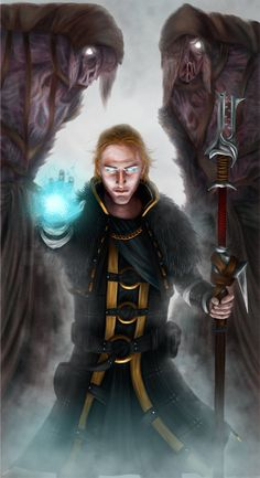 """I'll show you why mages are feared!"" Anders from Dragon Age 2. ~GIVEthemHORNS on deviantART"