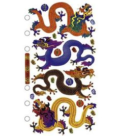 Sticko Stickers - Asian Dragons
