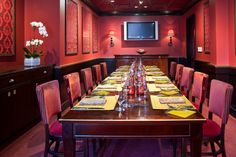 Private room for a small business dinner.