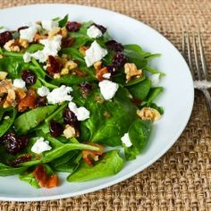 Spinach Salad with Bacon Dressing by reneedobbs