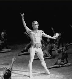 "New York City Ballet production of ""A Midsummer Night's Dream"" with Mikhail Baryshnikov as Oberon, choreography by George Balanchine (New York)"