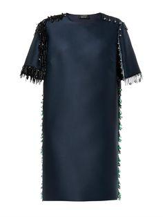 Lanvin Bead-embellsed mikado dress