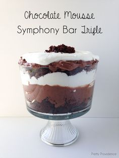 Chocolate Mousse Symphony Bar Trifle... made this for company last Sunday and it was a huge hit! Super easy to throw together, too.