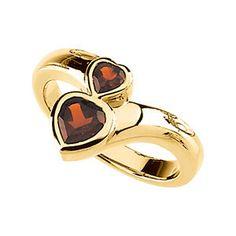 Genuine Mozambique Garnet Ring | Stuller.com