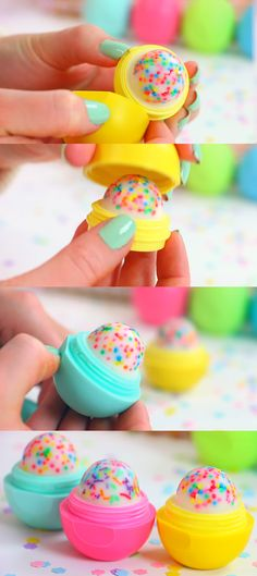 Cupcake EOS How To and Tutorial - Make Cool Homemade Lip Balm Containers for Your EOS - Easy DIY Cupcake Lip Balm With Sprinkles - Fun DIY P...