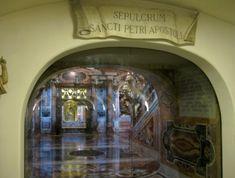 Is it really the Tomb of Saint Peter under Saint Peter's Basilica? Wooden Table Diy, St Peters Basilica, Glass Doors, Saints, Rome, Glass Pocket Doors, Glass Door