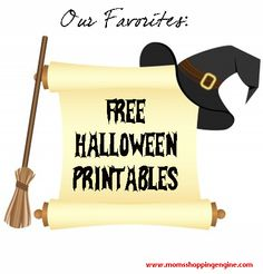 Our favorite sources for FREE Halloween Printables