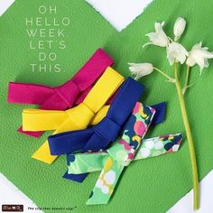 It's Monday again!! Make it a great day and a great week! • Here is a new set of Ella bows in the shop. Awesome bold colors for Spring/Summer. • Before I make my day awesome, I NEED coffee, lol. How do you take yours? I live in Seattle, but I'm not a coffee connoisseur by any stretch of the imagination. If I'm at a coffee shop, I'll order a tall skinny vanilla latte. If I'm home, I love my foldgers instant coffee (shhhhhhh, don't tell my Seattle people) with some vanilla coffee mate creamer…