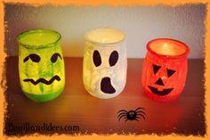 Hæľľøwęĕn trick r& treat⚘❤⚘ Bricolage Halloween, Fun Halloween Crafts, Halloween Candles, Halloween Activities, Halloween Kids, Diy Crafts Videos, Diy Craft Projects, Diy And Crafts, Diy Crafts For Bedroom