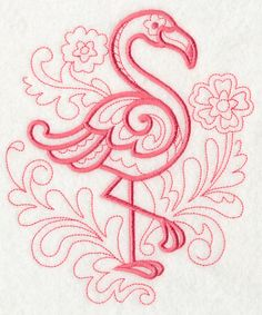 Doodle Flamingo design (M2807) from www.Emblibrary.com