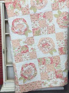 Shabby Cottage Quilt Kit by myreddoordesigns on Etsy