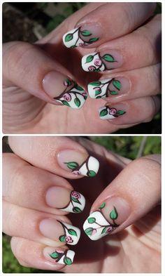 Tiny Roses Nail Design:Info at blog :)