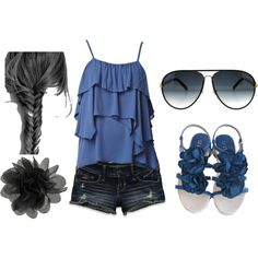 Black and Blue, created by hope-e-lacroix.polyvore.com