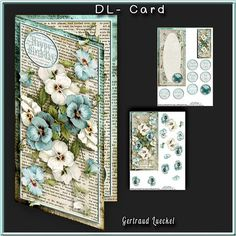 Dl Card with inlet 2598 all about flowers lilac  on Craftsuprint - View Now!