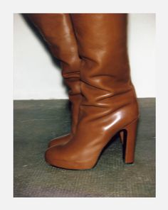 brown leather boots :p -- im thinking they'd look great with my uniform!