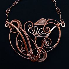Copper Fantasia Statement Necklace by sparkflight on Etsy, $320.00