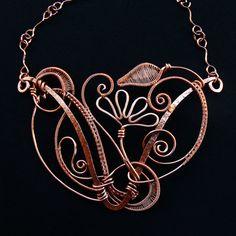 Copper Fantasia Statement Necklace