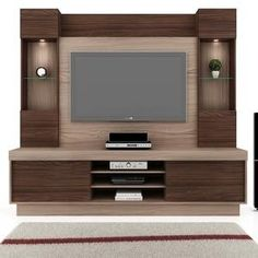 Estante para Home Theater Vamol Heros Monet Wengue/Terrazo