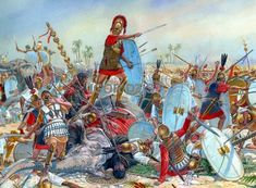 The Battle of Tunis, also known as the Battle of Bagrades, between the Roman Republic and Carthage occurred in the spring of 255 BC during the First Punic War. The battle ended in a decisive Carthaginian victory. ~ art by Igor Dzis