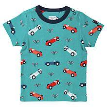 Buy Polarn O. Pyret Baby #Car Print #T-Shirt, Teal.  Shop at www.kidstart.co.uk and get Kidstart savings back for your kids!