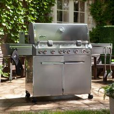 Gas Grill: Weber Summit S-670 Stainless Steel Gas Grill - 7370001 http://grillingideas.org/coleman-road-trip-propane-portable-grill-lxe-review/