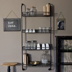 Love this so much we have one in our kitchen A very cool and versatile kitchen storage solution for all those recipe books and jars of this and that