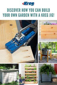 Meet the newest Kreg Jig! The Kreg Pocket-Hole Jig 320 makes it easier than ever to build DIY wood projects. Kreg Pocket Hole Jig, Pocket Hole Screws, Diy Wood Projects, Outdoor Projects, Outdoor Ideas, Wood Crafts, Woodworking Vise, Woodworking Furniture, Kreg Tools