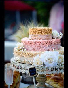 Rice Krispie Wedding Cake!