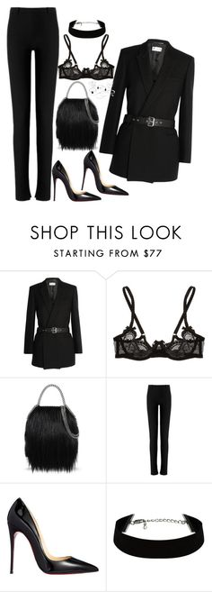 """Untitled #1641"" by samikayy76 on Polyvore featuring Yves Saint Laurent, L'Agent By Agent Provocateur, STELLA McCARTNEY, Roland Mouret, Christian Louboutin, women's clothing, women, female, woman and misses"