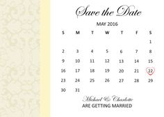 Customised Save the Date Invitation by ArtworkByAnti on Etsy