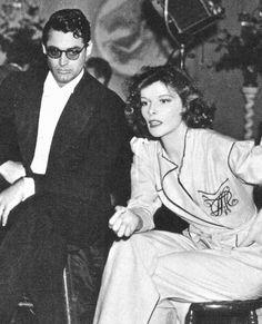 bettesdavis: Cary Grant and Katharine Hepburn on the set of Bringing Up Baby, 1938