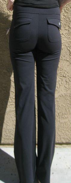 Athleta Yoga pants Black Flap Pocket L Tall LT NWT #Athleta #PantsTightsLeggings