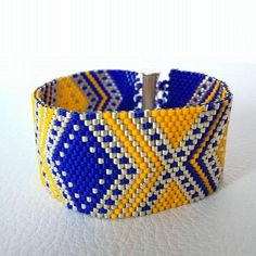 Bracelet manchette peyote bohème ALBION