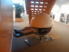 Nap Pods that Google has to keep their employees energized..I NEED A NAP POD! seriously I really do!
