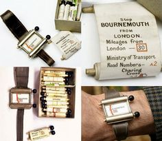 """Way back in 1920, you could find the Plus Fours Routefinder. This manual """"navigator"""" resembled a clock and consisted of paper maps and two wooden handles that needed to be scrolled manually. A multitude of scrolls could be fitted in the watch to suit the particular trip the driver fancied taking."""