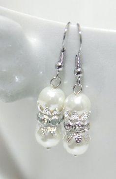 Swarovski Pearl Sparkle Rhinestone Earrings