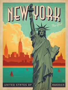 New York City: Lady Liberty - Decorate with this lovely print of Lady Liberty and add a classic Big Apple flair to any room. Printed on gallery-grade paper, this print is sure to brighten any home or office wall for years to come.<br />