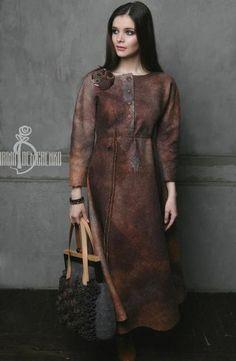 Платья ручной работы. Ярмарка Мастеров - ручная работа. Купить Валяное платье «Darkness». Handmade. Рыжий, нежность, натуральный шелк