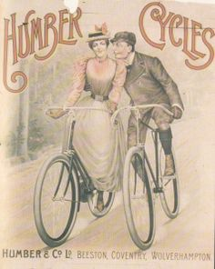 With the arrival of commercial safety bicycles in the 1880s, the aristocratic society of the Continent responded great.  One group that really made daily news was the lovers. Young men and women deep in love wanted a space for flirtation. Since cycling was accepted as a social form of recreation, it was the easiest thing to ride away with boyfriend from the watchful eye of the parent or chaperon.