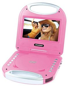 Sylvania SDVD7049 7-Inch Portable DVD Player with Handle, Pink