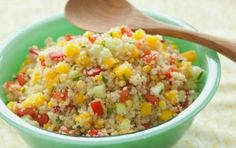 Alejandra: Ensalada de mango y quinoa Que rico !!!! voy a intentar esta receta