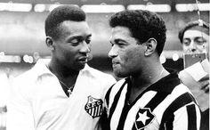 Pele e Garrincha! #Santos e #Botafogo #Futebol