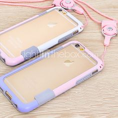 Lanyard Frame Mobile Phone Case for iphone 6 Plus(Assorted Colors) - USD $3.99